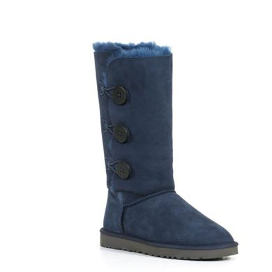 "UGG BAILEY BUTTON TRIPLET II BOOT ""NAVY"", 36"