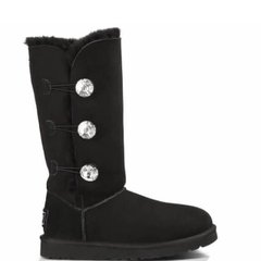 "UGG BAILEY BUTTON TRIPLET II BOOT BLING ""BLACK"", 37"