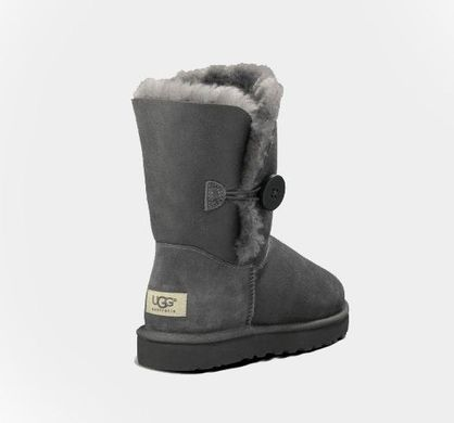 "UGG BAILEY BUTTON II BOOT LEATHER ""SEAL"", 36"