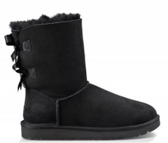 "UGG BAILEY BOW II BOOT ""BLACK"", 37"