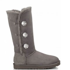 "UGG BAILEY BUTTON TRIPLET II BOOT BLING ""GREY"", 36"