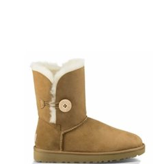 "UGG BAILEY BUTTON II BOOT ""CHESTNUT"", 36"