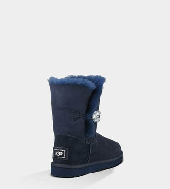 "UGG BAILEY BUTTON BLING BOOT ""NAVY"", 39"