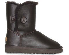 "UGG BAILEY BUTTON II BOOT LEATHER ""BROWN"", 37"