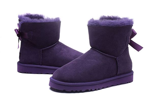 "UGG MINI BAILEY BOW II BOOT ""PURPLE"", 40"