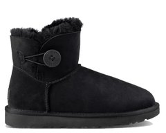 "UGG MINI BAILEY BUTTON II BOOT ""BLACK"", 39"