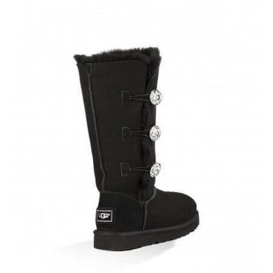 "UGG BAILEY BUTTON TRIPLET II BOOT BLING ""BLACK"", 38"