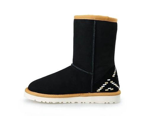 "UGG CLASSIC SHORT II BOOT ""BLACK ORNAMENT"", 36"