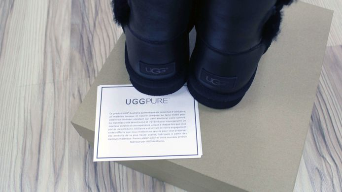 "UGG BAILEY BUTTON II BOOT LEATHER ""BLACK"", 36"