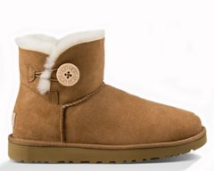 "UGG MINI BAILEY BUTTON II BOOT ""CHESTNUT"", 39"