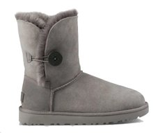 "UGG BAILEY BUTTON II BOOT ""GREY"", 39"