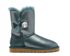 "UGG BAILEY BUTTON II BOOT LEATHER I DO ""SEA GREEN"", 36"