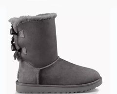 "UGG BAILEY BOW II BOOT ""GREY"", 36"