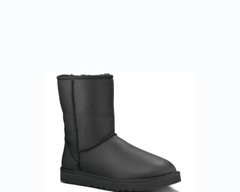 "UGG BABY CLASSIC II BOOT LEATHER ""BLACK"", 34"