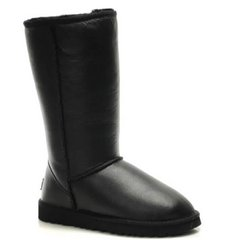 "UGG CLASSIC TALL II BOOT LEATHER ""BLACK"", 37"