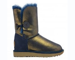 "UGG BAILEY BUTTON II METALLIC ""NAVY/GOLD"", 36"