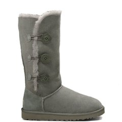 "UGG BAILEY BUTTON TRIPLET II BOOT ""GREY"", 36"