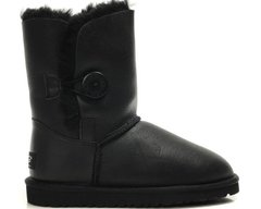 "UGG BABY BAILEY BUTTON II BOOT LEATHER ""BLACK"", 34"