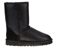 "UGG CLASSIC SHORT LEATHER BOOT ""BLACK"", 36"